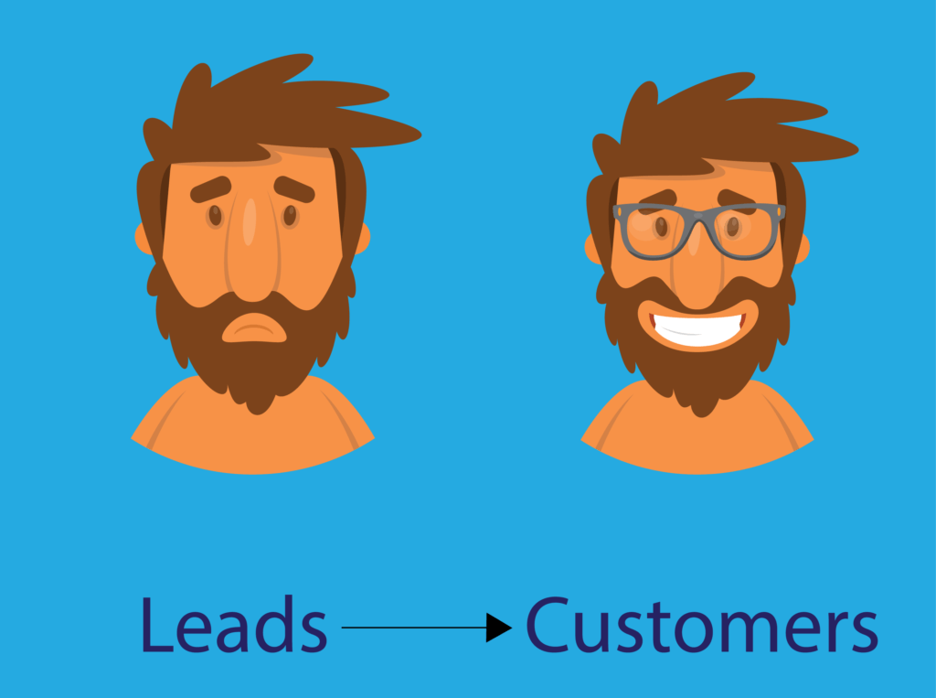 leads to customer faces