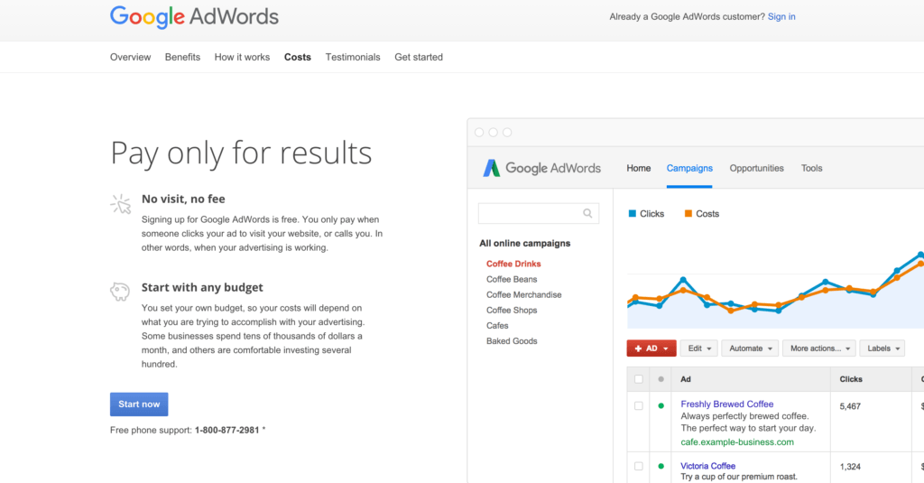 Google Adwords Landing Page 2