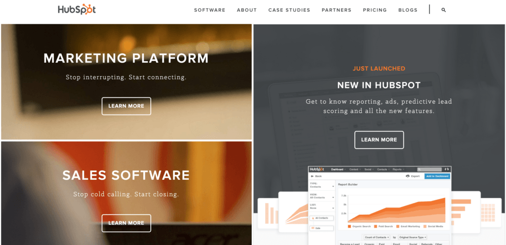 Hubspot Homepage Sections