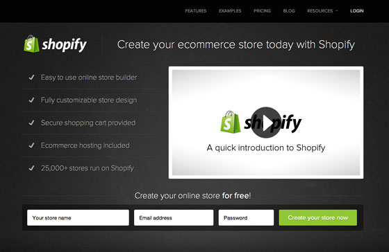 shopify video landing page