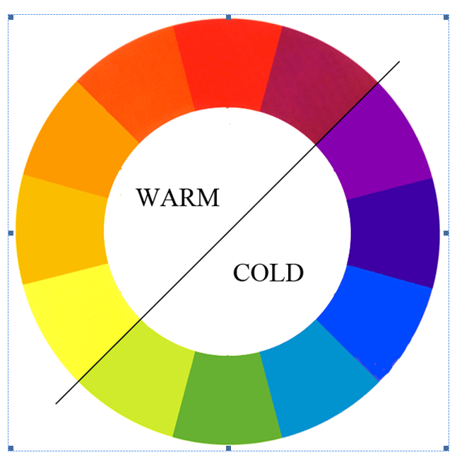 warm and cold colours