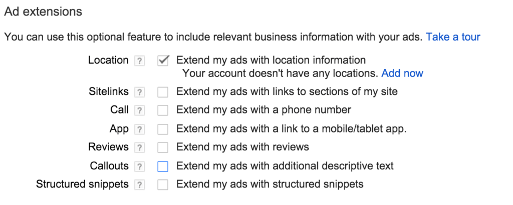Adwords Ad Extension