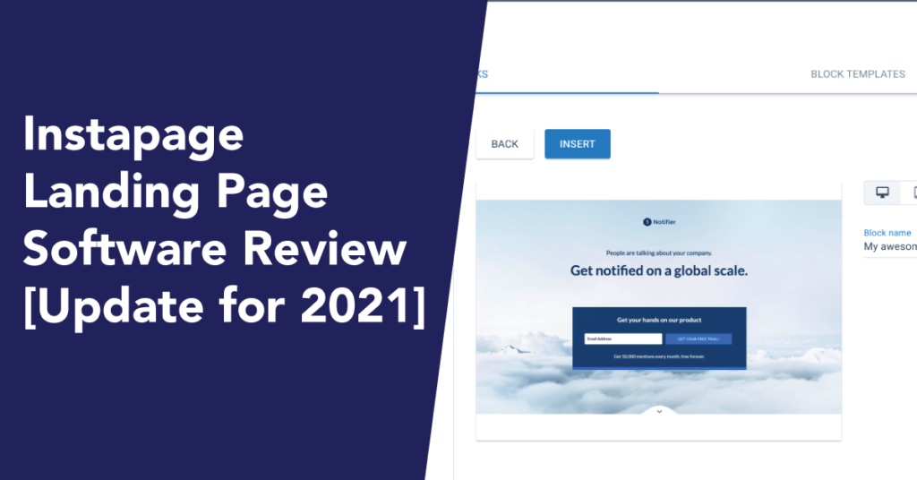 Instapage update review 2021