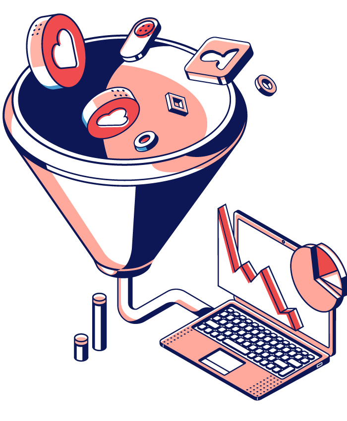 hubspot funnel illustration